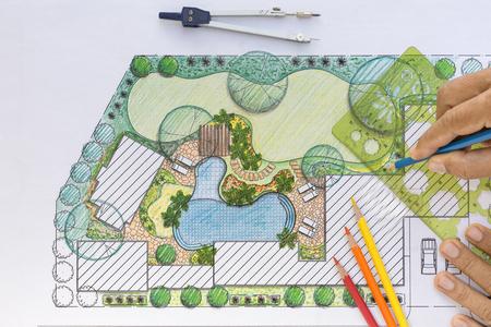 Diseño de jardin exterior